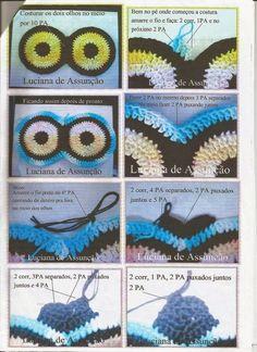 Artes da Abelha Rainha: Jogo de banheiro coruja de crochê Crochet Eyes, Crochet Art, Crochet Home, Free Crochet, Owl Crochet Patterns, Owl Patterns, Owl Bathroom Set, Owl Rug, Owl Crafts