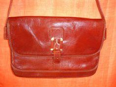 Vintage Handtaschen - Tasche*Vintage*rot*braun*leder* - ein Designerstück von…