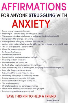 Affirmations for anxiety to help you calm down quickly. Affirmations for anxiety to help you calm down quickly. Affirmations for people struggling with anxiety. How to stop worrying. How to worry less. Stress and anxiety Deal With Anxiety, Anxiety Tips, Anxiety Help, Anxiety Relief Quotes, How To Overcome Anxiety, Therapy For Anxiety, Mental Health, Wise Words, Positive Thoughts