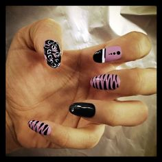 By Sara Kardan. [B]Colours used: [/B]Deborah Lippmann Fade to Black, Amazing Grace, Like a Virgin blended with Between the Sheets.