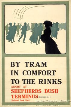 By tram in comfort to the rinks ~ Charles Sharland