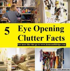 5 Eye Opening Clutter Facts - HOME and LIFE TIPS Life Hacks, Life Tips, Organize Your Life, Diy Organization, Clutter, Improve Yourself, Facts, Cleaning, Facebook