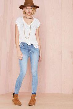 Blue Skies Skinny Jeans - Denim