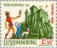 Sello: Castle Hollenfels (Luxemburgo) (Castles) Mi:LU 801,Yt:LU 751