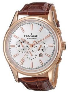 Peugeot_Men's_MK910RBR_Rose_Gold-Tone_Stainless_Steel_Watch_with_Croco-Embossed_Band
