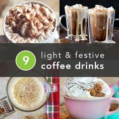 9 Festive Coffee Drinks to Make at Home Bye bye, Starbucks. Light and festive holiday coffee drinks you can make at home. Holiday Drinks, Fun Drinks, Yummy Drinks, Healthy Drinks, Holiday Recipes, Healthy Snacks, Yummy Food, Tasty, Winter Drinks