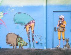 David Choe for Wynwood Walls in Miami, FL, USA, 2018 David Choe, Powerful Pictures, Graffiti, Disney Characters, Fl Usa, Painting, Inspiration, Miami, Walls