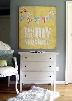 DIY Vintage You Are My Sunshine Sign {Martha Stewart}
