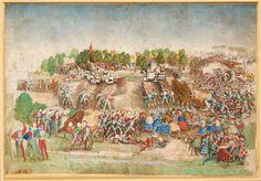 La Bataille de MarignanAttribué au Maître de la RatièreMilan, [vers 1515]Bibliothèque et archives du château deChantilly