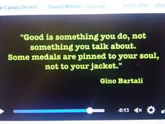 Medals pinned to your soul