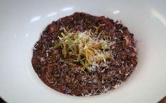 Feito com arroz negro, o prato leva camarão VG e creme de leite... chef claude troiagross