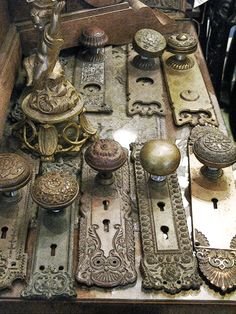 Antique door knobs!