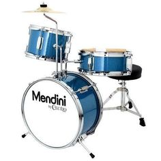 Mendini by Cecilio 13 Inch Kids / Junior Drum Set with Adjustable Throne, Cymbal, Pedal & Drumsticks, Metallic Blue, Kids Drum Set, Drums For Kids, How To Play Drums, Cheap Drum Sets, Junior Drum Set, Drum Throne, Best Drums, Drum Pedal, Frame Drum