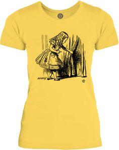 Big Texas Alice in Wonderland - Looking for The Door (Black) Womens Fine Jersey T-Shirt