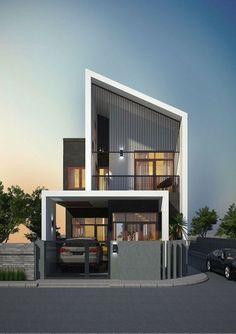 11 Stylish Modern Minimalist House Architecture That Cool And Trendy 11 Stilvolle moderne minimalistische Hausarchitektur, die cool und trendy ist – decoratoo Modern Minimalist House, Modern House Design, Minimalist Interior, Minimalist Decor, Minimalist Kitchen, Minimalist Bedroom, Minimalist Design, Facade Design, Exterior Design