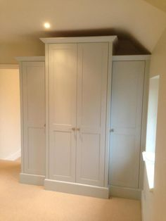 Built in wardrobe - possible side look for foyer built-ins? Painted Wardrobe, Built In Wardrobe, Built In Storage, Tall Cabinet Storage, Urban Bedroom, Built In Cupboards, Master Bedroom Closet, Home Organisation, Wardrobe Storage