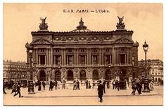 Paris opera house. Postcard