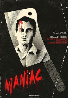 Maniac (2012) ~ Alternative Movie Poster by Joel Amat Guell #amusementphile