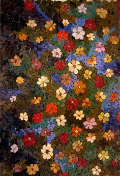 Image result for making my own mosaic flowers on net for a box