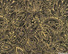 Holiday Dazzle - Gilded Paisley - Black/Gold