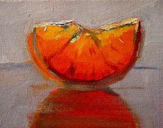 Still Life Oil Painting Original Small Orange por smallimpressions, $35.00
