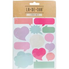 La De Dah Word Bubble Stickers 5 Pack | Hobbycraft