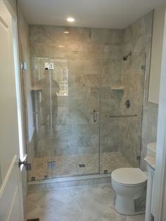 a great way to fill a 5foot opening is to use 3 panels and frameless shower doorstowel barsthe