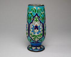 Antique 19thc. Jules Vieillard pottery Chinese / Islamic inspired vase    eBay