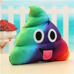 colorful smiley emiji cushion toys heart eyes crown bowknot design poo/poop emotion pillow doll cute gift for kids child