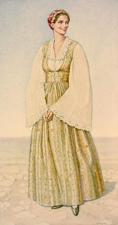 Greece Costume Samos - Greek dress - Wikipedia, the free encyclopedia Greek Traditional Dress, Traditional Fashion, Traditional Outfits, Costume Shop, Folk Costume, Greece Costume, Ancient Greek Costumes, Greek Dress, Greek Fashion