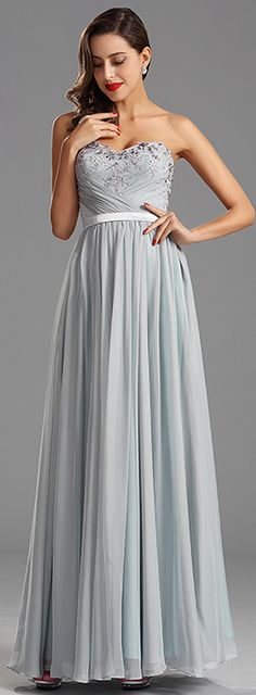 Love the embroidered details on the bodice! For evening night, prom party, valentine's party, this dress is all powerful. It is in light color, expresses new spring, summer sense. You can get this fashion dress: http://www.edressit.com/_p4177.html