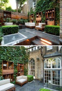 Decoracin de Jardines modernos en casas urbanas | Por Philip Nixon
