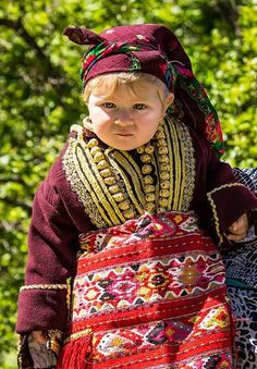 """Macedonian baby girl with folk costume from village Galichnik on the traditional manifestation """"Galichnik's Wedding"""" (Galichka svadba), Macedonia Macedonia People, Beautiful Costumes, The Shining, Folk Costume, Ethnic Fashion, Traditional Dresses, Winter Hats, Culture, History"""