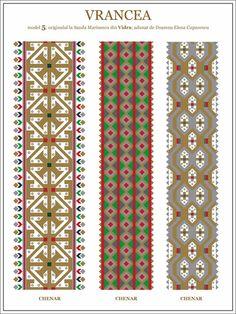 Folk Embroidery, Embroidery Patterns, Cross Stitch Designs, Cross Stitch Patterns, Card Weaving, Moldova, Fabric Beads, Hama Beads, Beading Patterns
