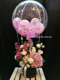 Pictures Of Birthday Balloons and Flowers Elegant Jason Balloons Decor Paper Flower Balloon Centerpieces, Centerpiece Decorations, Decoration Table, Balloon Decorations, Balloon Flowers, Balloon Bouquet, Paper Flowers, Flower Box Gift, Flower Boxes