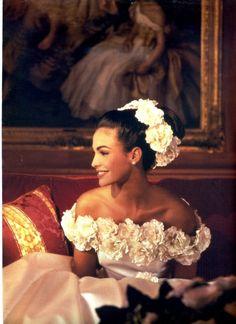 """ Pronovias Spain, S/S 1994 Model : Ines Sastre "" Perfect Wedding, Dream Wedding, Wedding Day, Wedding White, Floral Wedding, Summer Wedding, Wedding Flowers, Bridal Gowns, Wedding Gowns"