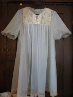VANITY fair   sexy 1950 sheer blue double by Linsvintageboutique