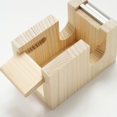 tape cutter made from cypress thinning of Japan designed by Yuko Noguchi