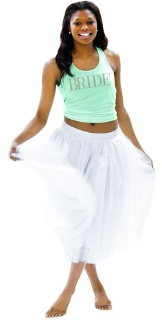 Long Bridal Skirt White