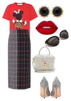 Work Causal by kkmahony on Polyvore featuring polyvore Victoria Beckham Gianvito Rossi Dolce&Gabbana Gucci Lime Crime fashion style clothing