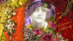 Crazy quilt: woman with hat