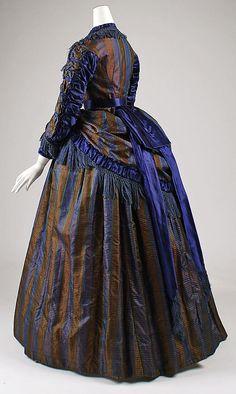 Unknown Maker. Silk Dress. 1869–72. European. Side back view