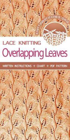 Lace Knitting Stitches, Knitting Machine Patterns, Lace Knitting Patterns, Knitting Blogs, Loom Knitting, Knitting Designs, Knitting Projects, Baby Knitting, Stitch Patterns