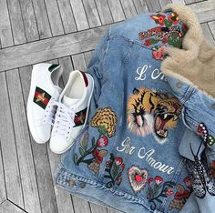 Gucci Sneaks X Denim Jacket http://www.99wtf.net/men/mens-accessories/shop-type-shoes/