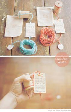 craft party invites - so cute!