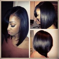 Just Lush! - http://www.blackhairinformation.com/community/hairstyle-gallery/relaxed-hairstyles/just-lush/ #longbob #haircut #thatshine