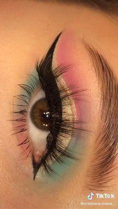 Edgy Makeup, Makeup Eye Looks, Eye Makeup Art, Crazy Makeup, Smokey Eye Makeup, Skin Makeup, Eyeshadow Makeup, Soft Eye Makeup, Pretty Makeup
