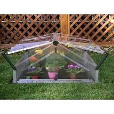 Double 3.5 Ft. W x 3.5 Ft. D Cold Frame Greenhouse