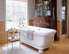 That tub!!! | Re-purposed Chest!!! But how would that work if someone truly tried to use that as a shower? (Oops. But I do have a few family members that it would make me wonder, should they ever have the occasion.....