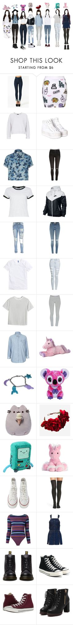 """1st Fan Meet in Seoul (Read D)"" by thedolls-official ❤ liked on Polyvore featuring Illustrated People, Topshop, Jeffrey Campbell, River Island, Boohoo, NIKE, Chicnova Fashion, TNA, Gund and Rock 'N Rose"